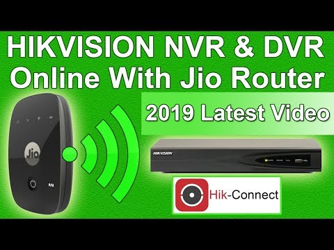 hikvision nvr and dvr online with jio || hik-connect setup