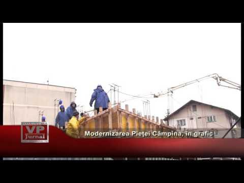 Modernizarea Pieței Câmpina, în grafic
