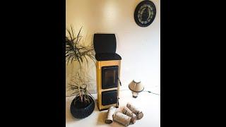 Отопительно варочная печь Milano 2 - белая ( изразцовая печка, каминофен ) від компанії House heat - відео 1