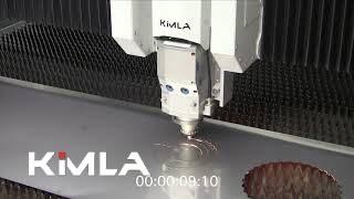 Ekstremalnie szybkie cięcie stali na laserze fiber Kimla