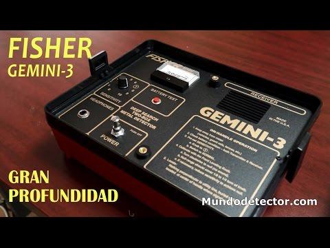 Detectores de metales de GRAN PROFUNDIDAD FISHER Gemini 3
