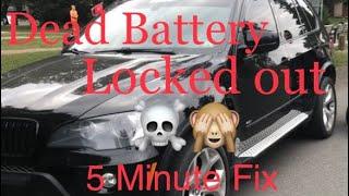 BMW X5 Dead battery | Lockout