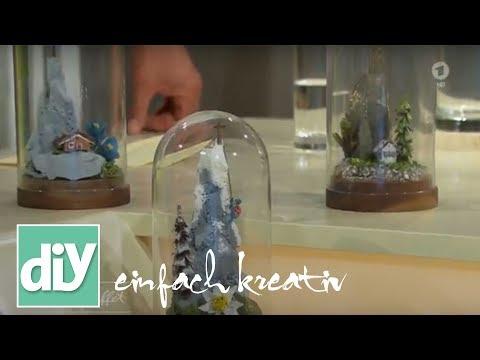 Minilandschaft unter Glasglocke   DIY einfach kreativ