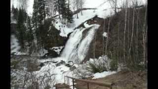 Пещерский водопад в апреле