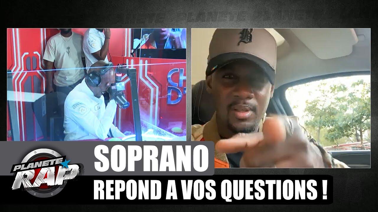 SOPRANO avec le maillot de MESSI ? Il répond à VOS questions ! (et à Black M) #PlanèteRap