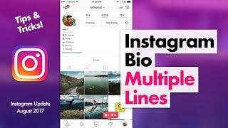 How to Edit Instagram Bio - Multiple Lines Tips & Tricks