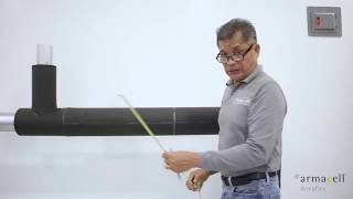 ArmaFlex® - Second layer on a straight pipe application