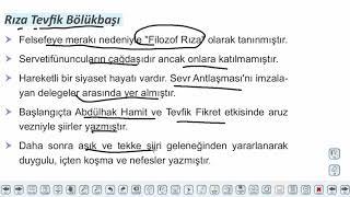 Eğitim Vadisi AYT Edebiyat 13.Föy Milli Edebiyat Dönemi Şiiri Konu Anlatım Videoları