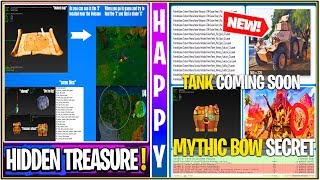 *NEW* Fortnite: KRAKEN COMING SOON, Treasure Chest to DIG UP, MYTHICAL BOW, LEAKED Tank LTM, & More!