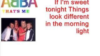 ABBA - That's Me [Instrumental Karaoke]
