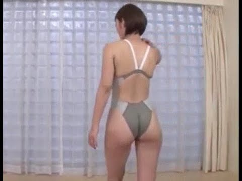 【競泳用水着】水着美女によるランニングマシン・トレーニング Swimsuit Model