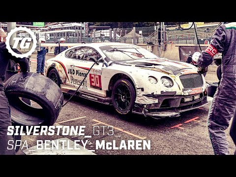 Chris Harris at The Races: Bentley Continental GT3 & McLaren 650S GT3 | Top Gear