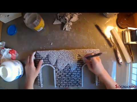 Tutorial - Come realizzare una pianta rampicante su muro per presepe