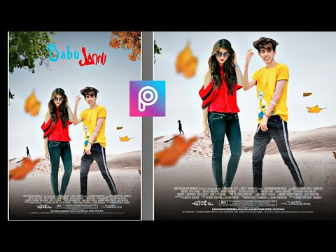 PicsArt Photo Ediitng With Girl | Movie  Poster Editing in picsart
