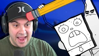 Doodle Bob and Doodle Patrick are TERRIFYING! | Around The Clock at Bikini Bottom