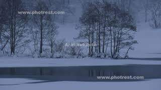 冬の秋元湖