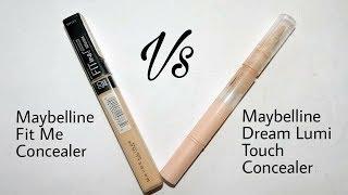 Maybelline Fit Me Vs Dream Lumi touch Concealer || Comparison , Mini Review || Sayantani Some