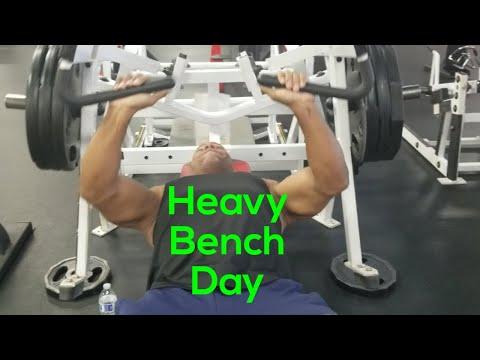 (Strength training) - Bodybuilding motivation. Hammer Strength Bench Press for mass.