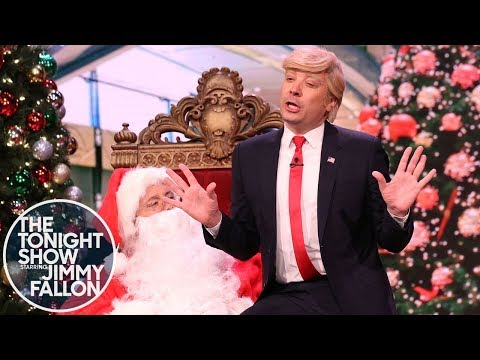 President Trump Visits Mall Santa to Make an Impeachment Wish