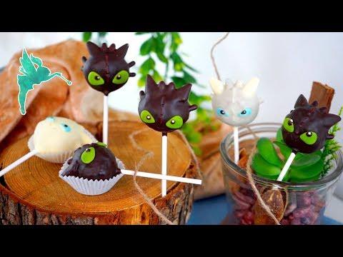 Ohnezahn Cakepops - Drachenzähmen 3 Cakepop - Kuchen am Stiel - Drachen Cakepops - Kuchenfee