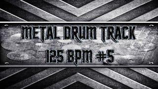 Easy Metal Drum Track 125 BPM (HQ,HD)