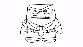 How to draw Inside Out characters Anger Disney Pixar drawing