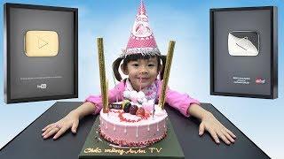 Cảm Ơn Cộng Đồng Và Youtube! Nút Play Vàng: Niềm Hạnh Phúc Lớn Nhất Của Bé ❤ AnAn ToysReview TV ❤