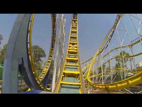 Montana Infinitum Roller Coaster POV La Feria Chapultepec Mexico City