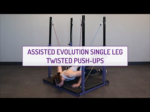 Assisted Evolution Single-Leg Twisted Push-Ups