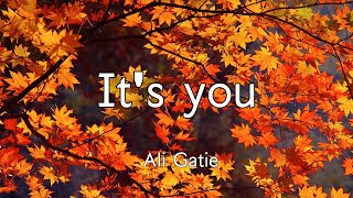 Ali Gatie - it's you / slowed down lyrics