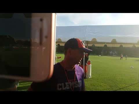 TigerNet: Dabo Swinney after practice - 8/15/17 - Part 1