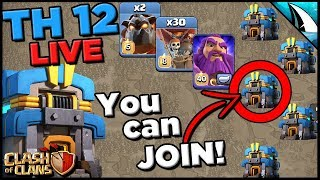 *War With Me!* Th 12 5v5 Short LIVE Wars with Sui Lalo | Clash of Clans