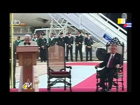 Cuba : accueil officiel par le président Raul Castro