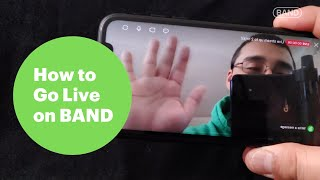 BAND App Tutorial - Live Streaming Guide