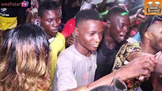 Mr Benson break 3 bottles during performance in Ikorodu