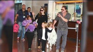 Brad Pitt and Angelina Jolie and Kids Look Happy in Japan - Splash News   Splash News TV