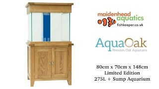 Aqua Oak 'XL Cube' Systemised Aquarium *Limited Edition* (AQ80CS)
