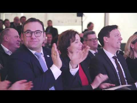 Der Spatenstich zur neuen Firmenzentrale im Video