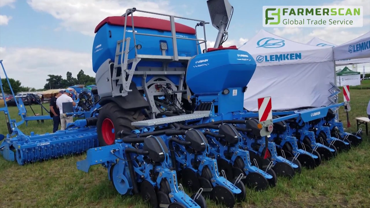 The seed drill Lemken Azurit 9 was demonstrated in Kiev Oblast (Review)