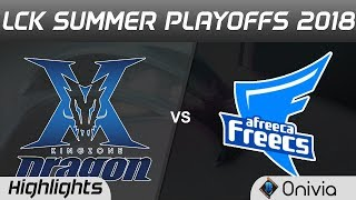 KZ vs AFS Highlights Game 1 LCK Summer Playoffs 2018 KingZone DragonX vs Afreeca Freecs by Onivia