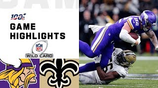The Minnesota Vikings take on the New Orleans Saints during the Wild Card Round of the 2019 NFL postseason.  Subscribe to NFL: http://j.mp/1L0bVBu  Check out our other channels: NFL Vault http://www.youtube.com/nflvault NFL Network http://www.youtube.com/nflnetwork NFL Films http://www.youtube.com/nflfilms NFL Rush http://www.youtube.com/nflrush NFL Play Football https://www.youtube.com/playfootball NFL Podcasts https://www.youtube.com/nflpodcasts  #NFL #Vikings #Saints