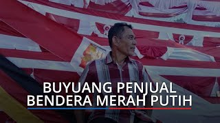 Buyuang Pulang Kampung ke Pariaman demi Jualan Bendera Merah Putih, Buka Lapak di Tiga Titik