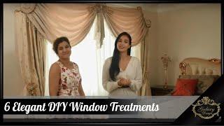 6 Elegant DIY Window Treatments | Galaxy Design Video #214