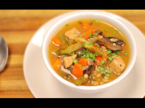 Chicken Barley Soup - healthy recipe channel- healthy recipes - soup recipe - dinner recipes