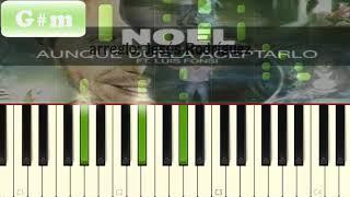 Noel Schajris - Aunque Duela Aceptarlo | Piano Tutorial / Cover