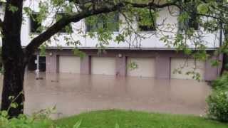 preview picture of video 'Hochwasser in Hallein 2013'