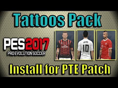 Steam Community :: Video :: [PES 2017] Tattoos Pack for PTE