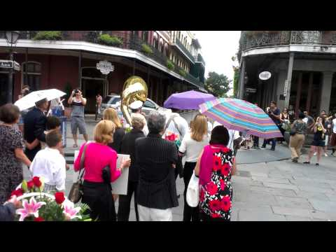 New Orleans funeral parade
