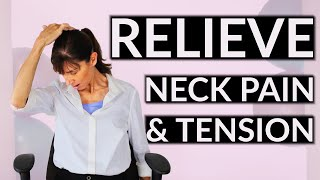 Relieve Neck Pain & Tension At Your Desk   Daily Physio Routine