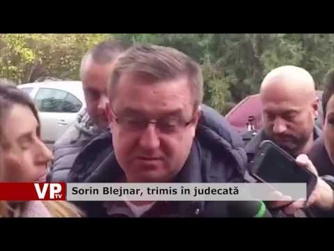 Sorin Blejnar, trimis în judecată